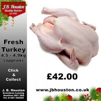 Fresh White Turkey 4.5 - 4.9kg