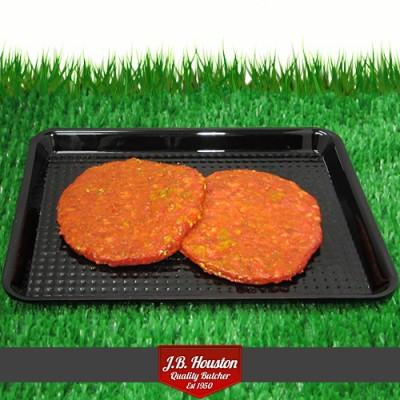 """Steak 5"""" Garlic Burger"""